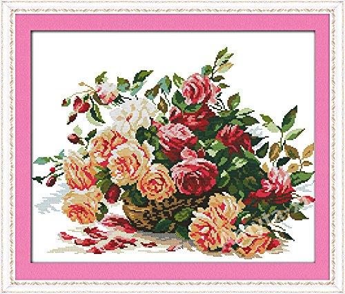 bellissima-chiavetta-confezione-punto-croce-quadro-rose-fiori-cestino-senza-conoscenze-precedenti-co