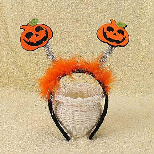 r Zusätze Kürbis Fledermaus Haarreif Haarschmuck Headwear Halloween Deko (B) (Halloween B)