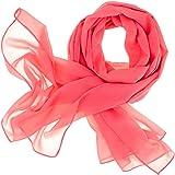 DOLCE ABBRACCIO by RiemTEX ® Schal Damen SWEET LOVE Stola Chiffon Tuch in 30 Unifarben Schals und Tücher Halstücher XXL Chiff