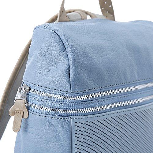 Abbacino Damen La Pinta Rucksack, 35x14x32 cm Blau (Hellblau)