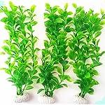 UEETEK Fish Tank Green Plastic Artificial Plants Aquarium Water Plants Decorations - PACK OF 3 8