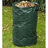 Vetrineinrete Sacco da giardino idrorepellente con manici cesto raccogli erba foglie rami rifiuti contenitore multiuso capacità 120 litri 70x45 cm B5