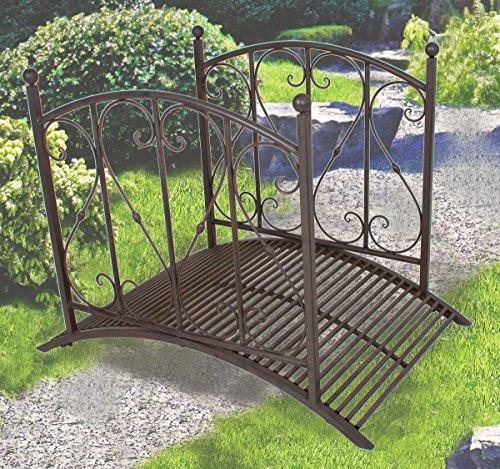 Gartenbr cke mit gel nder aus metall metalldekoration for Gartendekoration aus rost