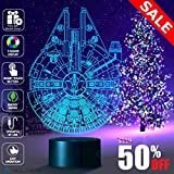 Millennium Falcon Lamp, Decoration lamp, 7 Color Mode, Awesome gifts (MT020)