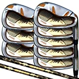 Japan Epron TRG 4-SW Graphite Matrix Stain Steel Chrome Iron High Launch Golf Club Set (grip 0.6 inches)