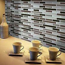 Fancy-Fix - Autoadhesivo de gel 3D con efecto de mosaicos para salpicadero de cocina o baño, 2 unidades, plástico, NewBrick, Pack de 4