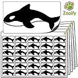 480 x Aufkleber - killerwal orca . Hochwertige selbstklebende Etiketten