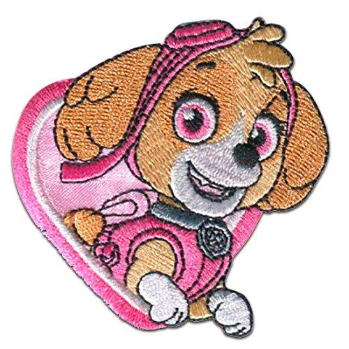 Aufnäher / Bügelbild - PAW PATROL 'SKYE' - pink - 6,8x6,3cm - Patch Aufbügler Applikationen zum aufbügeln Applikation Patches Flicken by catch-the-patch® (Patch Paw)