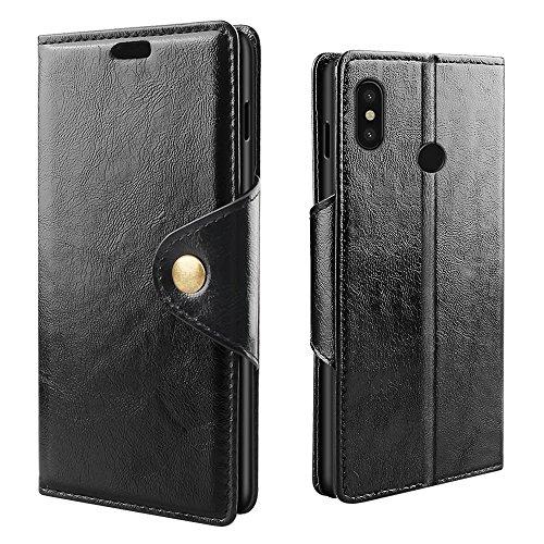 """RIFFUE Cover Xiaomi Mi8 SE, Custodia Xiaomi Mi 8 SE [Premium Portafoglio] Pelle Libro Flip Caso con Porta Carte Funzione Appoggio e Fibbia Magnetica di Rame, Case per Xiaomi Mi 8 SE 5.88"""" - Nero"""