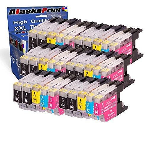 Premium Set di 30 cartucce di inchiostro compatibile con Brother LC-1240 LC-1220 LC-1280 XL per DCP-J525W J725DW MFCJ925DW MFC-J430W MFC-J5910DW MFC J625DW MFC J825DW MFC-J6910DW (nero , Cyan , Magenta , Yellow) 30xLC-1280-Brother