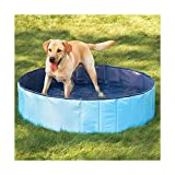 FurryFriends Baignoire/piscine pliante pour chien ou chat Pliante Chien/Chat–Grande taille 127cm x 31cm