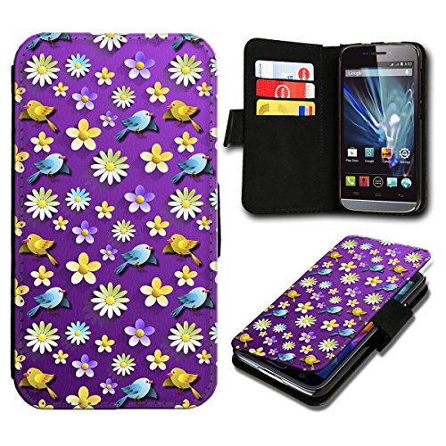 Book Style Wiko Birdy Premium PU-Leder Tasche Flip Brieftasche Handy Hülle mit Kartenfächer für Wiko Birdy - Design Flip SV60