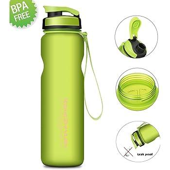 CAMTOA Water Drink Bottle 1000ml Water Bottle–BPA Free–Best Sports Bottle Water Bottle Leak Proof Plastic Water Bottle, Kids Drinks bottle, Yoga Bike Running Camping Office Sports Water Bottle