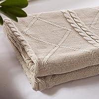 BDUK Puro cotone lavorato a maglia coperte bambini coperta di cotone tessitura, lavorazione a maglia coperte coperta invernale di lanugine