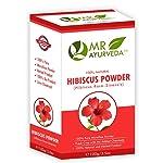 MR Ayurveda 100% Natural Hibiscus Powder for Hair & Skin, 100 Gm