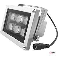 JC Caméra de surveillance infrarouge à 6 LED pour caméra CCTV et caméra IP 29 m.
