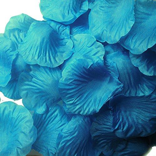LEFV & Trade; 1000 Stück Seiden-Rosenblätter Künstliche Blumen Hochzeit Party Vase Dekoration Brautschmuck Gastgeschenke Tischdekoration Konfetti Dekorationen (40 Farben zur Auswahl) Acid Blue 1 (Streuen Sie Einladungen)