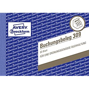 Avery-Zweckform 309 Voucher (A6 Landscape, microperforated, 50 Sheets) white