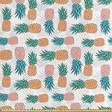 ABAKUHAUS Ananas Stoff als Meterware, Tropische