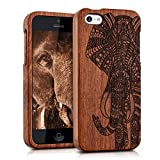 kwmobile Coque Apple iPhone 5C - Étui de Protection Rigide en Bois véritable -...