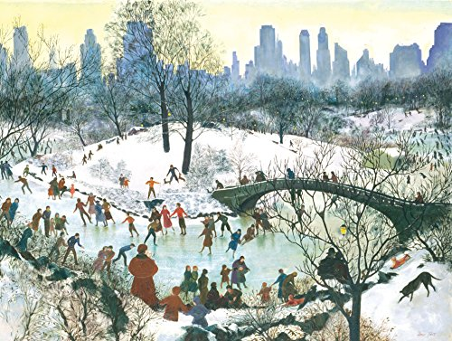 Skating in Central Park Boxed Holiday Full Notecards (Christmas Cards)