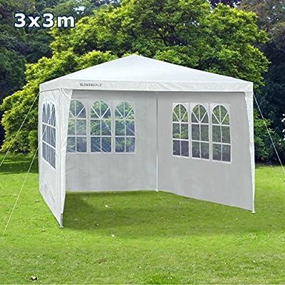 Slimbridge Saltney 3 x 3 metres gazebo with 3 sides