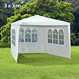 Slimbridge Saltney 3 x 3 metres gazebo with 3 sides, White