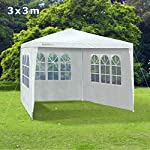 Slimbridge Wakehurst 3 x 3 Metres Fully Waterproof Gazebo Tent Marquee Awning Canopy without Side Panels with Powder Coated Steel Frame for Outdoor Wedding Garden Party, White 3
