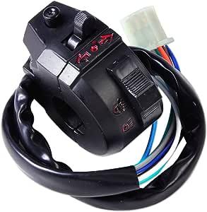 Universal 7 8 Motorrad Licht Ein Aus Blinker Schalter Lichtschalter Lenker Blinkerschalter Lenkerschalter Kombischalter Ausschalter Auto