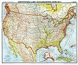 Historsiche Karte: VEREINIGTE STAATEN von Nord-Amerika (USA), Cuba, Portorico und Bahama-Inseln - um 1903 [gerollt]: Flemmings Generalkarte, No. 40a - Friedrich Handtke