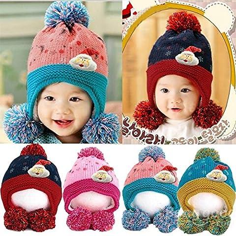 mark8shop bébé enfants de Noël Bonnet en tricot Imprimé Lune Star Dot Casquette