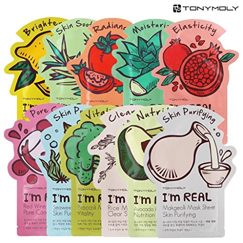 Tonymoly I'm Real Skin Care Facial Mask Sheet Package (ALL - 11 Sheets) by TONYMOLY