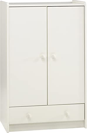 Steens 2Door1Drawer Low Kids Wardrobe White Amazoncouk