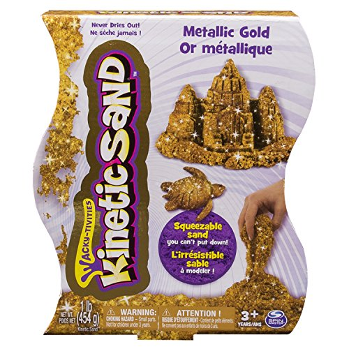 Spin Master 6026411 - Kinetic Sand - Metals 'n Minerals Sand (silver/gold)  453 g