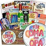 Für Oma & Opa ✿ Spezial Geschenk Box ✿ Geschenk Ideen ✿ Für Oma & Opa ✿ inkl Markenbuch ✿ DDR Paket ✿ beste Großeltern Geschenk ✿ mit Gurken Snack Get One, Pfeffi Stangen und mehr