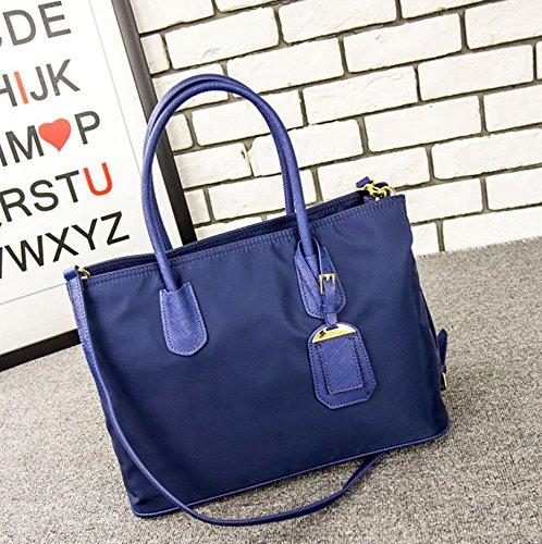 X&L Frauen einfache Lokomotive Mode Taschen Handtaschen Schulter Messenger Tasche fashion blue