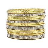 LUX Zubehör Gold Ton und Aufkleber Stein Armreif Multi Pack