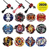 infinitoo 12 Stück Kampfkreisel Set 4D Fusion Modell Battling Tops Mit 3 Beschleunigungslauncher Speed Kreisel Tolles Spielzeug Geschenk Für Kinder