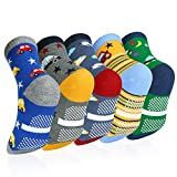 Vbiger 5 Paar Kinder Winter Socken wärme Jungen Baumwolle Socken Antirutschsocken Kindersocken 3-5 Jahre