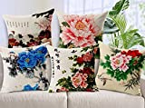 #6: Aart Floral printed Cushion (Set of 5) by Aart Store