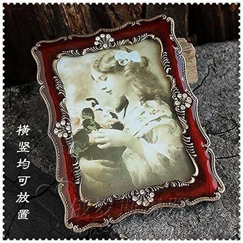 Russland Zinn einfachen europaischen Konigs gemalten Bilderrahmen Bilderrahmen retro klassischen Sechs-Zoll-6-Zoll-Bilderrahmen Ornamente Ornamente