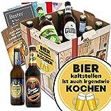 Bier kalt stellen ist auch irgendwie kochen | Bierpaket mit Bieren aus Deutschland | inkl. 6 Geschenkkarten für jeden Anlass + Bierbewertungsbogen + 3x Urkunde | Bier Geschenk Box mit Bieren aus Deutschland | Individuelle Geschenkbox - Bier mit Bieren aus Deutschland kalt stellen ist auch irgendwie kochen | Bier Geschenk Geschenkideen Bier kalt stellen ist auch irgendwie kochen Männer Geschenke Geschenke Mann Geschenkidee Männer