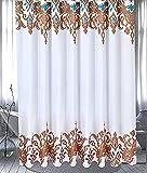 JZL-66 Divisorio per doccia europea impermeabile per tende da doccia impermeabile in poliestere per tende da doccia (dimensioni : 200 wide*200 high feeding ring)