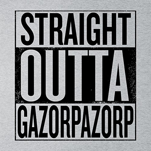 Straight Outta Gazorpazorp Women's Hooded Sweatshirt Heather Grey