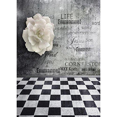 (hermosapoty Hintergrund Tuch grau Thema Fotografie Studio Prop Wand Hochzeit Dekoration)