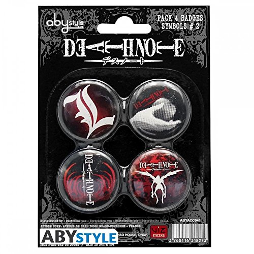Death Note - Pin Pack - Buttons 4er Pack   Manga   Anime   Original Merchandise