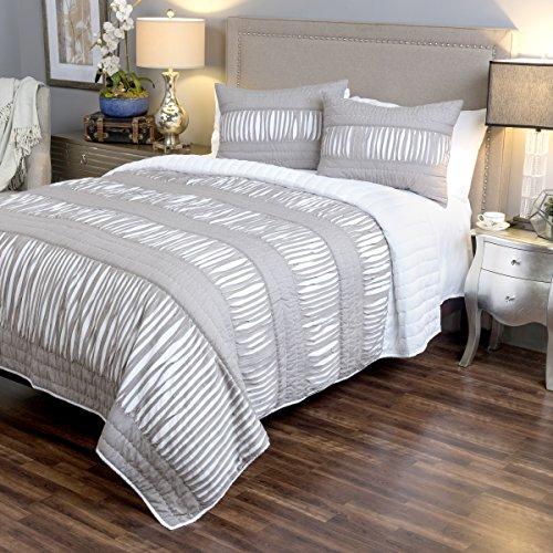 Rizzy Home chic-Gray 3Stück Quilt Set, König