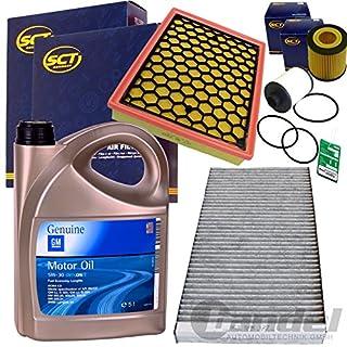 Filter Set Inspektions Satz 5L GM Dexos 2 5W30 1x Kraftstofffilter1x Oelfilter 1x Filter, Innenraumluft ( Aktivkohlefilter )1x Luftfilter 1x Oelwechselanhaenger
