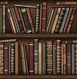 Brewster FD40545 Papier peint Motif bibliothèque Marron