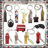 6Mini Londres clave Etiquetas GB icono llaveros brelock regalo Souvenir Inglaterra Unión clave cadena por las redes